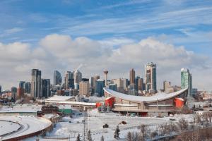 Stock Calgary Snow