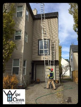 Gutter Cleaning in Calgary, Alberta by Wipe Clean